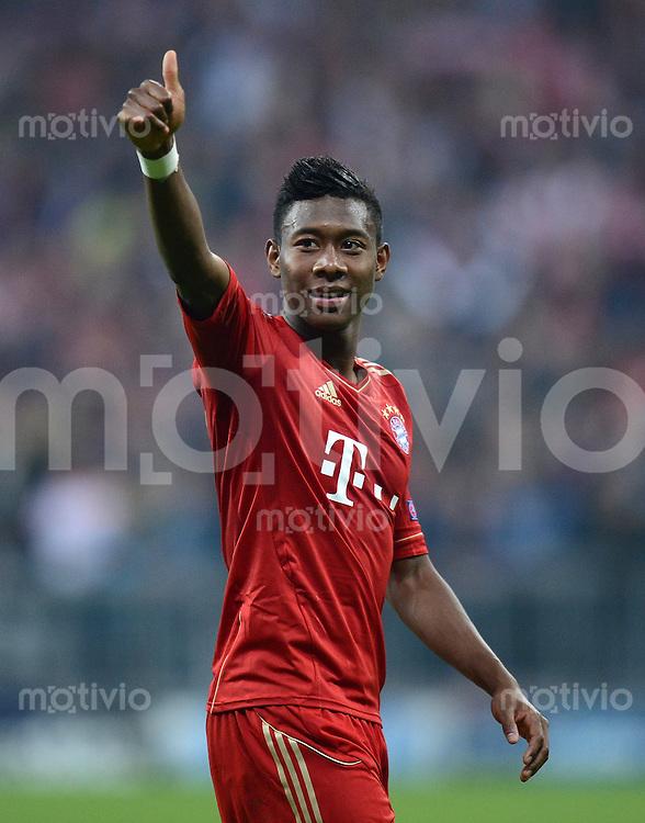 FUSSBALL  CHAMPIONS LEAGUE  HALBFINALE  HINSPIEL  2012/2013      FC Bayern Muenchen - FC Barcelona      23.04.2013 David Alaba (FC Bayern Muenchen)