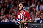 Atletico de Madrid's Saul Niguez during UEFA Champions League match between Atletico de Madrid and Club Brugge at Wanda Metropolitano Stadium in Madrid, Spain. October 03, 2018. (ALTERPHOTOS/A. Perez Meca)