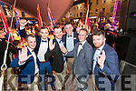 Kerry Rose of Tralee escorts, James O'Connor, Jamie Finn, Corey McConnell, Padraic McCarthy, Stewart Nolan and Shane Kenny,  all from Kerry,  pictured at the opening of the Rose of Tralee Festival in The Square, on Tuesday evening last.