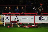 Accrington Stanley's Billy Kee celebrates scoring his sides third goal <br /> <br /> Photographer Kevin Barnes/CameraSport<br /> <br /> The Carabao Cup - Accrington Stanley v Preston North End - Tuesday 8th August 2017 - Crown Ground - Accrington<br />  <br /> World Copyright &copy; 2017 CameraSport. All rights reserved. 43 Linden Ave. Countesthorpe. Leicester. England. LE8 5PG - Tel: +44 (0) 116 277 4147 - admin@camerasport.com - www.camerasport.com