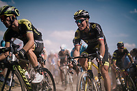Sylvain Chavanel (FRA/Direct Energie) on pav&eacute; sector #2<br /> <br /> Stage 9: Arras Citadelle &gt; Roubaix (154km)<br /> <br /> 105th Tour de France 2018<br /> &copy;kramon