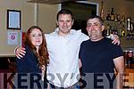 Nicola O'Shea, Brian Gleeson and John O'Shea  at the Triple World Darts Champion Gary Anderson  exhibition in the Gleneagle Hotel on Saturday night