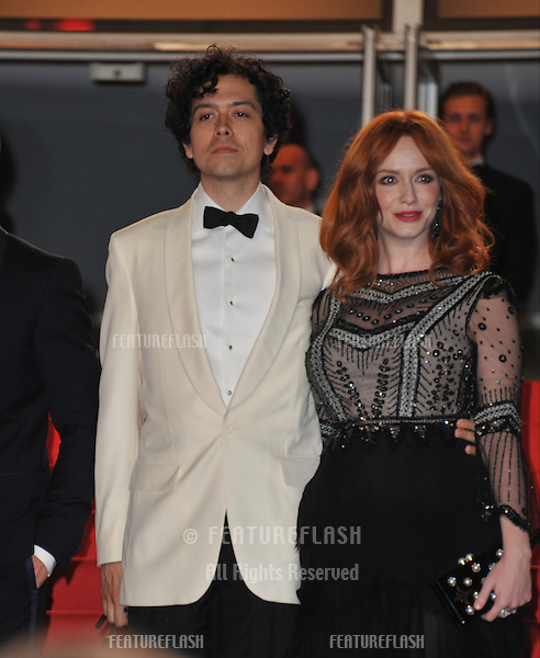 Christina Hendricks &amp; husband Geoffrey Arend at the gala premiere of her movie &quot;Lost River&quot; at the 67th Festival de Cannes.<br /> May 20, 2014  Cannes, France<br /> Picture: Paul Smith / Featureflash