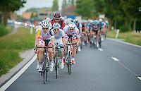 Gert Dockx (BEL) driving the peloton<br /> <br /> Eneco Tour 2013<br /> stage 1: Koksijde - Ardooie (175km)