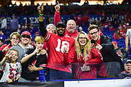Indianapolis, IN - DEC 1, 2018: Ohio State Buckeyes fans before Big Ten Championship game between Northwestern and Ohio State at Lucas Oil Stadium in Indianapolis, IN. Ohio State defeated Northwestern 45-24. (Photo by Phillip Peters/Media Images International)