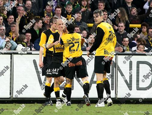 2010-03-20 / Voetbal / seizoen 2009-2010 / K. Lierse SK - KVSK United / Lierse viert de 1-0 van Nedzipi..Foto: Mpics
