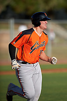 AZL Giants Orange Connor Cannon (13) runs to first base during an Arizona League game against the AZL Giants Black on July 19, 2019 at the Giants Baseball Complex in Scottsdale, Arizona. The AZL Giants Black defeated the AZL Giants Orange 8-5. (Zachary Lucy/Four Seam Images)