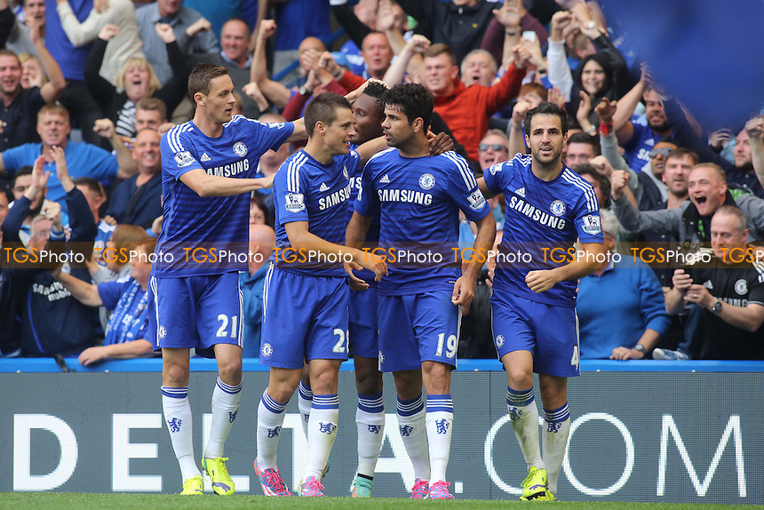 Diego Costa celebrates scoring Chelsea's second goal - Chelsea vs Arsenal - Barclays Premier League Football at Stamford Bridge, London - 05/10/14 - MANDATORY CREDIT: Paul Dennis/TGSPHOTO - Self billing applies where appropriate - contact@tgsphoto.co.uk - NO UNPAID USE