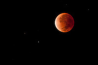 Red moon created by lunar eclipse viewed from Hawaii Dec. 9, 2011