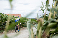 Maxime Farazijn (BEL/Sport Vlaanderen Baloise) over  the Plugstreets Gravel Sections. <br /> <br /> <br /> 1st Great War Remembrance Race 2018 (UCI Europe Tour Cat. 1.1) <br /> Nieuwpoort &gt; Ieper (BE) 192.7 km