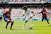 9th September 2017, Santiago Bernabeu, Madrid, Spain; La Liga football, Real Madrid versus Levante; Pedro Lopez  (19) of Levante Marcelo Viera da Silva (12) of Real Madrid
