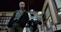 RoboCop (1987) <br /> Kurtwood Smith &amp; Peter Weller<br /> *Filmstill - Editorial Use Only*<br /> CAP/KFS<br /> Image supplied by Capital Pictures