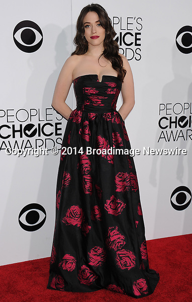 Pictured: Kat Dennings<br /> Mandatory Credit &copy; Gilbert Flores /Broadimage<br /> 2014 People's Choice Awards <br /> <br /> 1/8/14, Los Angeles, California, United States of America<br /> Reference: 010814_GFLA_BDG_258<br /> <br /> Broadimage Newswire<br /> Los Angeles 1+  (310) 301-1027<br /> New York      1+  (646) 827-9134<br /> sales@broadimage.com<br /> http://www.broadimage.com