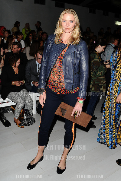 Jodie Kidd at the Issa catwalk show as part of London Fashion Week SS13, London. 15/09/2012 Picture by: Steve Vas / Featureflash