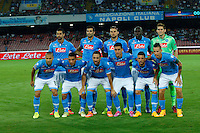 during the Europa League   soccer match between SSC Napoli and Sparta Praha  at  the San Paolo   stadium in Naples  Italy , september 18 , 2014