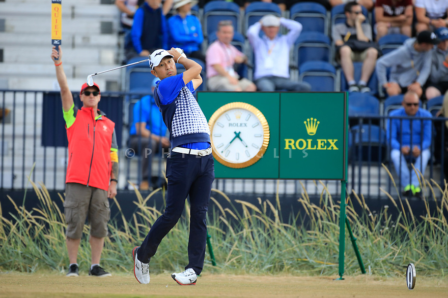 Masanori Kobayashi (JPN) during the first round of the 147th Open Championship played at Carnoustie Links, Angus, Scotland. 19/07/2018<br /> Picture: Golffile | Phil Inglis<br /> <br /> All photo usage must carry mandatory copyright credit ©Phil INGLIS)