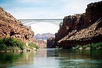 BRIDGES<br /> Navajo Bridges over Marble Canyon<br /> Crossing the Colorado River near Lee's Ferry, Arizona, USA.