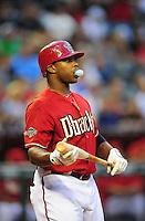 Jun. 15, 2011; Phoenix, AZ, USA; Arizona Diamondbacks outfielder Justin Upton against the San Francisco Giants at Chase Field. Mandatory Credit: Mark J. Rebilas-