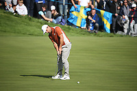 Francesco Molinari (Team Europe) on the 12th during Saturday's Fourballs, at the Ryder Cup, Le Golf National, &Icirc;le-de-France, France. 29/09/2018.<br /> Picture David Lloyd / Golffile.ie<br /> <br /> All photo usage must carry mandatory copyright credit (&copy; Golffile | David Lloyd)