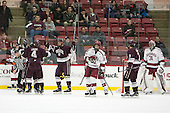Kevin Lough (Colgate - 4), Tim Harrison (Colgate - 19) -  - The Harvard University Crimson defeated the visiting Colgate University Raiders 7-4 (EN) on Saturday, February 20, 2016, at Bright-Landry Hockey Center in Boston, Massachusetts.