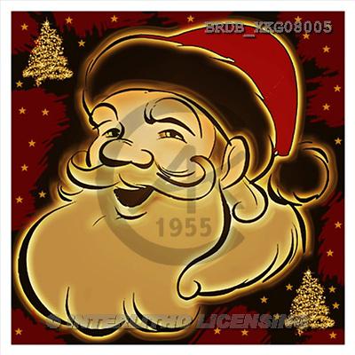 Daniela, CHRISTMAS SANTA, SNOWMAN, napkins, paintings, BRDBXKG08005,#X# Servietten, Weihnachten, servilleta, Navidad, illustrations, pinturas