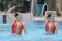 L to R Misa Sugiyama, Chisato Haga, ..AUGUST 14, 2011 - Synchronised Swimming : Mermaid Japan Cup 2011, Misa Sugiyama and Chisato Haga of perform during the duet technical routine..at Kyoto Aquarena, Japan. ..(Photo by Akihiro Sugimoto/AFLO SPORT) [1080]