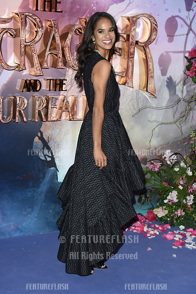 """LONDON, UK. November 01, 2018: Misty Copeland at the European premiere of """"The Nutcracker and the Four Realms"""" at the Vue Westfield, White City, London.<br /> Picture: Steve Vas/Featureflash"""