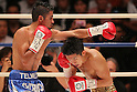 (L to R), Juan Hernandez (Mex), Kazuto Ioka (JPN), AUGUST 10, 2011 - Boxing : Kazuto Ioka of Japan in action against Juan Hernandez of Mexico during the WBC Minimum weight title bout at Korakuen Hall, Tokyo, Japan. Kazuto Ioka of Japan won the fight on points after twelve rounds.
