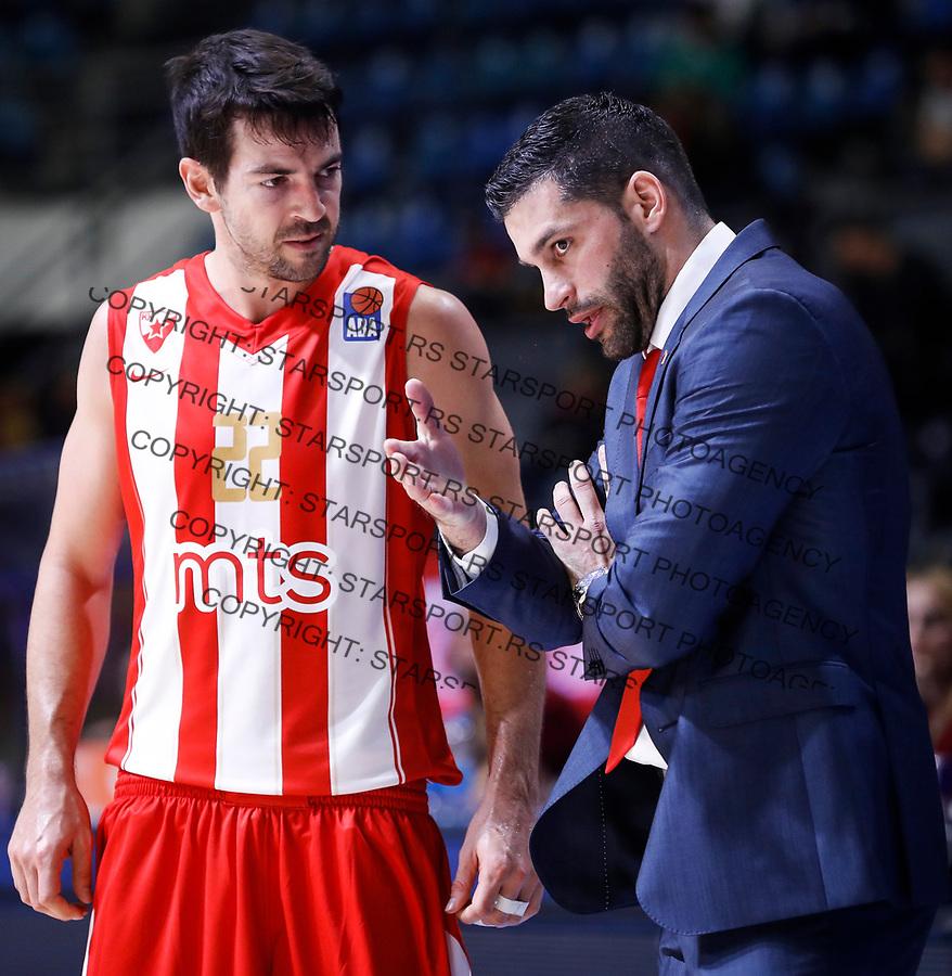 Kosarka ABA League season 2017-2018<br /> Crvena Zvezda v Mega Bemax<br /> Taylor Rochestie (L) and head coach Dusan Alimpijevic<br /> Beograd, 04.09.2017<br /> foto: Srdjan Stevanovic/Starsportphoto &copy;