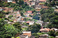 Favela Bucania. Favelas are defined as shanty towns, urban slums or ghettos in Brazil. Vespasiano, Belo Horizonte, Minas Gerais, Brazil (Brasil), South America, January 2007