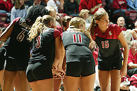 15 September 2005: Michelle Mellard during Stanford's 3-0 win over Saint Mary's in Maples Pavilion in Stanford, CA.