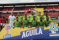 CÚCUTA- COLOMBIA, 17-08-2019:Formacion Jaguares de Córdoba.Acción de juego entre los equipos  Cúcuta Deportivo  y Jaguares de Córdoba  durante partido por la fecha 6 de la Liga Águila II  2019 jugado en el estadio General Santander de la ciudad de Cúcuta . / Team of Jaguares of Cordoba.Action game between Cucuta Deportivo and Jaguares of Cordoba  during the match for the date 6 of the Liga Aguila II 2019 played at the General Santander  stadium in Cucuta  city. Photo: VizzorImage / Manuel Hernández  / Contribuidor