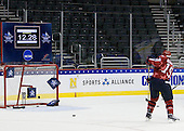 Brock Bradford (BC/East - 19) - The D1 and DIII seniors taking part in the Skills Challenge practiced on Friday, April 10, 2009, during the 2009 Frozen Four at the Verizon Center in Washington, DC.