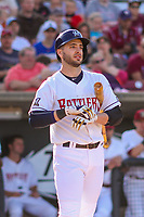 Milwaukee Brewers outfielder Ryan Braun (1) at the plate during a rehab appearance with the Wisconsin Timber Rattlers in game one of a Midwest League doubleheader against the Kane County Cougars on June 23, 2017 at Fox Cities Stadium in Appleton, Wisconsin.  Kane County defeated Wisconsin 4-3. (Brad Krause/Four Seam Images)