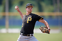 Pittsburgh Pirates relief pitcher Blake Cederlind (43) delivers a pitch during a Florida Instructional League game against the Toronto Blue Jays on September 20, 2018 at the Englebert Complex in Dunedin, Florida.  (Mike Janes/Four Seam Images)