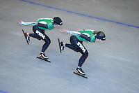 SCHAATSEN: HEERENVEEN: Thialf, 14-06-2012, Zomerijs, Linda de Vries, Ireen Wüst, ©foto Martin de Jong