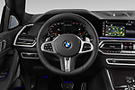 Car pictures of steering wheel view of a 2020 BMW X6 Base 5 Door SUV