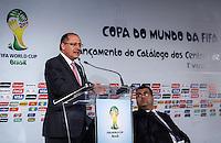 SAO PAULO, SP, 01 DE AGOSTO 2012 - COPA 2012 - CATALOGO CENTRO TREINAMENTO -  Governador Geraldo Alckmim durante lancamento do Catalogo de Treinamento de Selecoes da Copa do Mundo de Futebol no Brasil no Museu do Futebol na manha dessa quarta-feira, 01. FOTO: VANESSA CARVALHO - BRAZIL PHOTO PRESS.