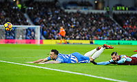Shane Duffy of Brighton & Hove Albion (22) penalty appeal  during the EPL - Premier League match between Brighton and Hove Albion and Burnley at the American Express Community Stadium, Brighton and Hove, England on 16 December 2017. Photo by Edward Thomas / PRiME Media Images.