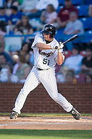 Adam Ricks (51) of the Winston-Salem Warthogs at bat versus the Kinston Indians at Ernie Shore Field in Winston-Salem, NC, Saturday, May 17, 2008.