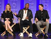 "HOLLYWOOD, CA - MARCH 17: Halston Sage, J. Lee, Mark Jackson and Chad L. Coleman at the PaleyFest 2018 - ""The Orville"" panel at the Dolby Theatre on March 17, 2018 in Hollywood, California. (Photo by Scott Kirkland/Fox/PictureGroup)"
