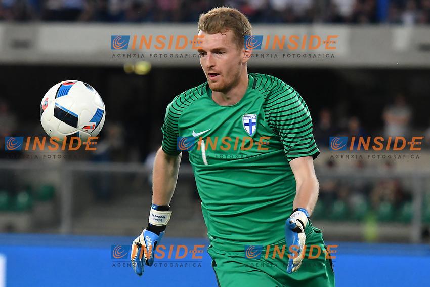 Lukas Hradecky Finland <br /> Verona 06-06-2016 Stadio Bentegodi Football Friendly Match Italia - Finlandia / Italy - Finland . Foto Andrea Staccioli / Insidefoto