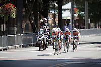 Boels - Dolmans Cycling Team speeding along<br /> <br /> Elite Men's Team Time Trial<br /> UCI Road World Championships Richmond 2015 / USA