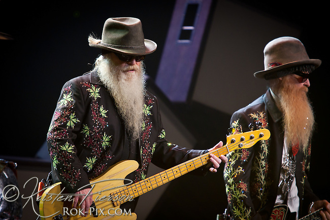 ZZ Top performing at the MGM Grand Theater at Foxwoods Casino on August 26, 2011