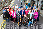 Killarney Mayor Niall Kelleher and Kerry Mayor John Sheahan unvailed a plaque to 1916 Rising hero Patrick O'Connor in Rathmore Train Station with his Patrick's family members last Monday evening