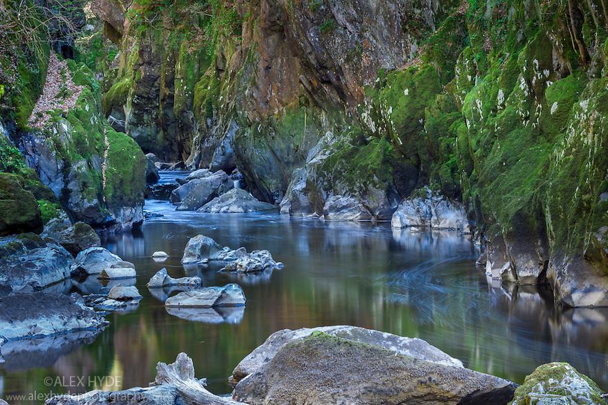 The Fairy Glen, Betws-y-coed, Snowdonia National Park, Wales, UK.