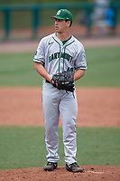 Dartmouth Big Green relief pitcher Max Hunter (19) gets ready to deliver a pitch during a game against the USF Bulls on March 17, 2019 at USF Baseball Stadium in Tampa, Florida.  USF defeated Dartmouth 4-1.  (Mike Janes/Four Seam Images)