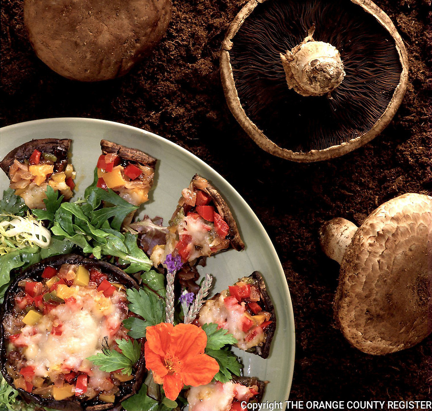 Stuffed Porto Bello Mushrooms. Portfolio only