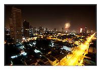 """Virada de ano vista da Mundurucus em direÁ""""o a 14 de abril.<br /> BelÈm, Par·, Brasil.<br /> Foto Paulo Santos<br /> 01/01/2014"""