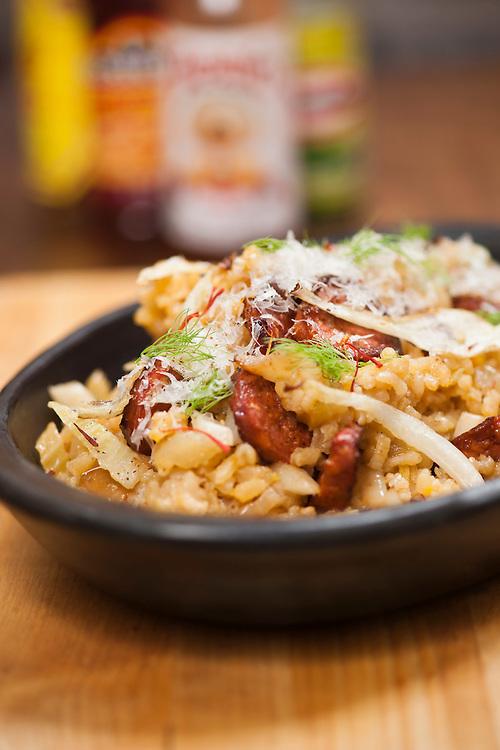 El Choto Spanish Foods, Spanish rice with chorizo, fennel and Manchego.